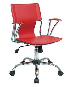 Chrome & Red Dorado Office Chair #ergonomicofficechairstylish
