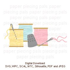 Colorful threads for SVG cutting file. Sew adorable.  Sew cute!
