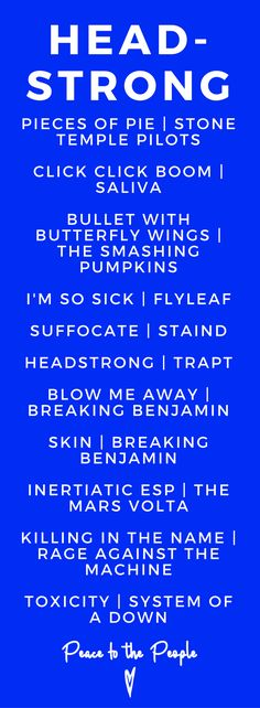 Headstrong Hard Rock Fitness Playlist Music Breaking Benjamin Trapt Stone Temple Pilots.png