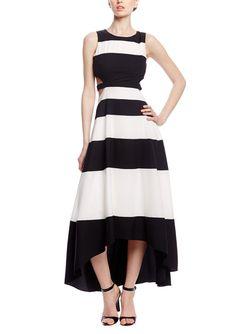 GRACIA Striped Maxi Dress with Cutouts | ideel