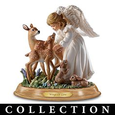 """Nature's Blessings"" Guardian Angel Figurine Collection"