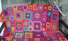Crochet Pattern Granny Square Crochet Blanket by Thesunroomuk