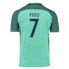 Portugal 2016 Figo 7 Borte Drakt Kortermet.  http://www.fotballpanett.com/portugal-2016-figo-7-borte-drakt-kortermet.  #fotballdrakter