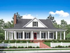 ePlans Farmhouse House Plan – Ultimate Wrap-Around Porch – 2084 Square Feet and 3 Bedrooms from ePlans – House Plan Code HWEPL78205