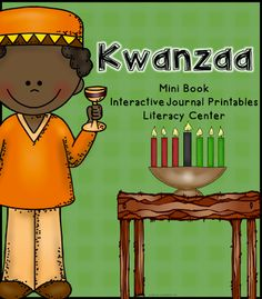 Kwanzaa - interactive journal, mini book, and literacy center - hands on activities for your Celebrations Around the World unit.  $