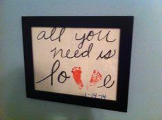 DIY: Baby Footprint Keepsake #baby #DIY