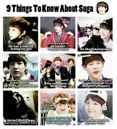 9 facts about Yoongi ^~^ I love him soo much ♡♡♡