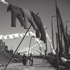 Washing-day, photography by Kees Scherer, 1953-1959, in Volendam, The Netherlands