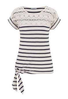 crochet top striped tie bottom tee (original price, $26) available at #Maurices