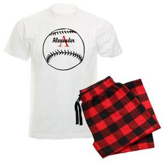 Personalized Baseball Men's Light Pajamas on CafePress.com