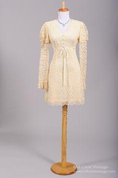 1960 Mod Vintage Wedding Dress