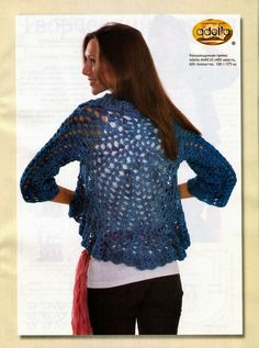 Circular Bolero jacket with sleeves ~ all charts and diagrams included