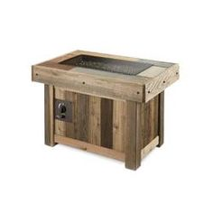 The Outdoor GreatRoom Company Kenwood Linear Dining Height Aluminum Propane/Natural Gas Fire Pit Table Propane Fire Pit Table, Wood Fire Pit, Steel Fire Pit, Concrete Fire Pits, Wood Burning Fire Pit, Fire Table, Faux Wood Tiles, Wood Look Tile, Rectangular Gas Fire Pit