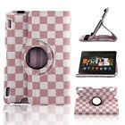 """360 Rotating PU Leather Folio Stand Smart Case Cover For Kindle Fire HDX 7"""" inch"""