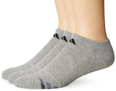 adidas Men's Cushion No Show Socks (Pack of Heathered Light Onix/Black/Granite/Tech Grey, One Size Fits men's shoe sizes ClimaLite technology to help keep you cool and dry Matches to adidas footwear & apparel colors Fitness Watch, Mens Fitness, Clothing Consignment Shops, Yoga Shoes, Workout Posters, Altering Clothes, Fit Board Workouts, Yoga For Men, No Show Socks