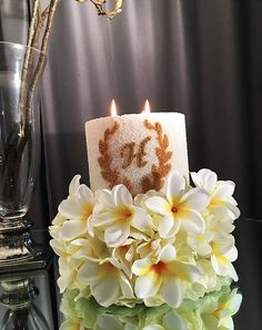 Personalised large candles excedding 24cm wide using German Glass. Handmade in Sydney. Share your messages and wishes through a unique concept and design.