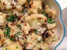 Edible Life in YYC: Parmesan & Garlic Roasted Cauliflower