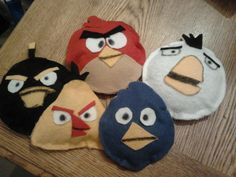Angry Birds. I made these bean bags: felt, fabric glue, hot glue - so easy!