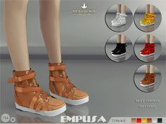 Madlen Empusa Sneakers New stunning sneakers for your sim! Personal favourite! Carefully crafted texture and low poly model (made by myself). Joints are perfectly assigned. All LODs are replaced with...
