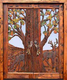 красивые резные двери для дома