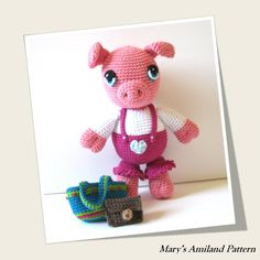 Patty Pig the Ami - Amigurumi crochet pattern - Digital Download - pinned by pin4etsy.com