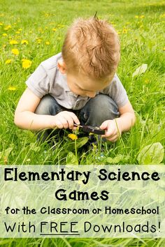 If you're on the lookout for elementary science games, you're going to love the ideas, resources, and FREE downloads included at this blog post! Your Kindergarten, 1st, 2nd, 3rd, 4th, and 5th grade students will be engaged and learning science in a fun, hands-on way. Click through to see the benefit of science games and how these can work in a classroom or homeschool setting. {K, first, second, third, fourth, fifth graders, science activities, science lessons}