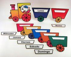 material para educadoras: Tren Días de la Semana