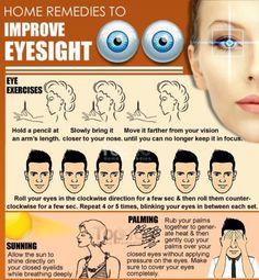 Home Remedies To Improve Eyesight #Health #Fitness #Trusper #Tip