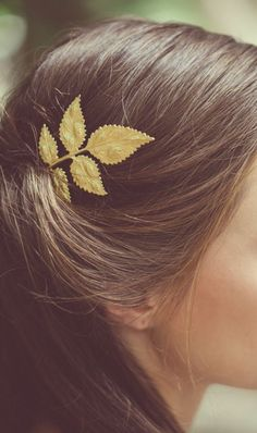 Eloping in the Mediterranean? This simple Grecian-inspired hairpin, handmade out of gold-plated brass, is the one for you!