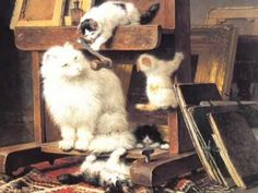Cat's Life (The Art of Henriëtte Ronner-Knip) Great video of quite a few of her cat paintings.