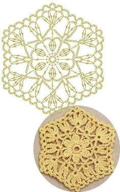 Transcendent Crochet a Solid Granny Square Ideas. Inconceivable Crochet a Solid Granny Square Ideas. Crochet Motif Patterns, Hexagon Pattern, Granny Square Crochet Pattern, Crochet Blocks, Crochet Mandala, Crochet Diagram, Crochet Chart, Crochet Squares, Crochet Doilies