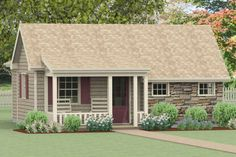 Granny pods in laws Skip to content Se - grannypods Small Cottage House Plans, Small House Floor Plans, Backyard Cottage, Best House Plans, Cottage Homes, Cottage Interiors, Garden Cottage, Cottage Design, House Design