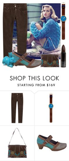 """""""brown and teal"""" by karen-lynn-rigmarole ❤ liked on Polyvore featuring Closed, Rosendahl, Salvatore Ferragamo, Naot, Serge Lutens and brownandteal"""