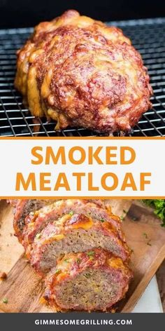 The BEST Meatloaf ever on your smoker! This Smoked Meatloaf is so easy to make anyone can make it even if you are a beginner. It's tender, juicy and packed with flavor. It's the only way you'll make meatloaf for dinner. Traeger Recipes, Smoked Meat Recipes, Grilling Recipes, Best Smoked Meatloaf Recipe, Grilling Tips, Zucchini Carbonara, Best Meatloaf, Meatloaf Recipes, Sweets