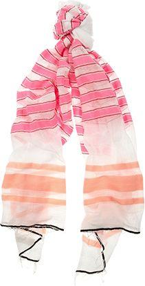 lemlem ishi striped cotton voile scarf