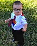 Cutest Halloween costumes for babies - Homemade Clark Kent Costume