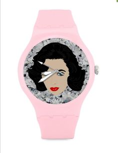 MARILYN MONROE or ELIZABETH taylor unisex watch by kayciwheatley