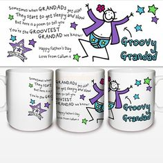 Personalised Purple Ronnie Groovy Grandad Mug  from Personalised Gifts Shop - ONLY £10.95