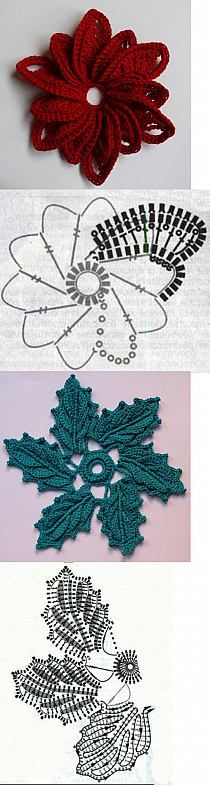 crochet flowers pillow -- wish I knew how to crochet! almofada com flores de crochet aplicadas Freeform Crochet, Crochet Diagram, Crochet Chart, Thread Crochet, Irish Crochet, Crochet Motif, Diy Crochet, Crochet Leaves, Knitted Flowers