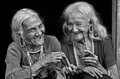 """Can't help but smile :)    Untitled by Huu Hung Truong  """"Viet Nam has many ethnic minorities. This is ethnic 'Mong,' who live in the Central Highlands Dak Nong-Vietnam. Two old friends are telling each other jokes."""""""