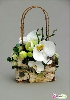 Orchid flower purse