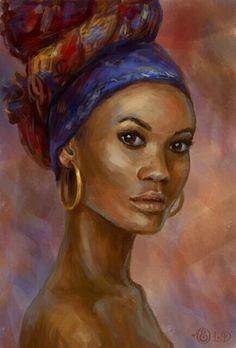 Black Art by cheri Black Girl Art, Black Women Art, Art Girl, African American Art, African Art, Black Artwork, Afro Art, Beauty Art, Female Art