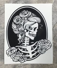 Skeleton Pinup Girl Wineglass or Decal,Customizable Vinyl Decal/Skeleton Pin Up Girl Bumper Sticker,Pinup Girl Art Deco Pin Up Girl Tattoo, Girl Tattoos, Tattoos For Guys, Pin Up Tattoos, Verse Tattoos, Tattoos Skull, Maori Tattoos, Filipino Tattoos, Arrow Tattoos