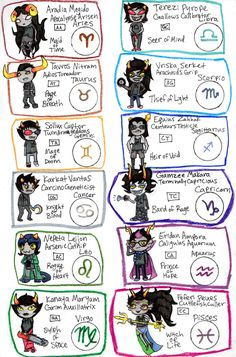 this actually really helped me when i was new with Homestuck and reading it for the first time.