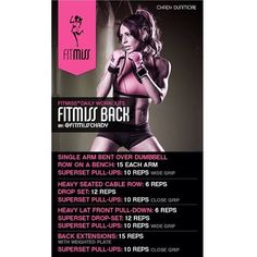 #Fitmiss Workout of the Day! @iamfitmiss Back by @Chady Debs! - @iamfitmiss- #webstagram