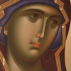Last year we posted an article about young Romanian iconographers creating traditional icons looking partially to modern art for elements to include in their work. With the spiritual renewal of R… Byzantine Icons, Byzantine Art, Learn Art, Learn To Paint, Becoming A Monk, Paint Icon, Orthodox Icons, Fortune Cards, Blessed Mother