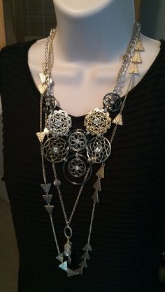 Premier Designs 2015-16 Collection - Your Way Necklace layered with Social Circle Necklace