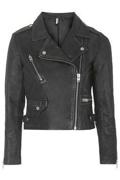 PETITE Premium Leather Biker Jacket