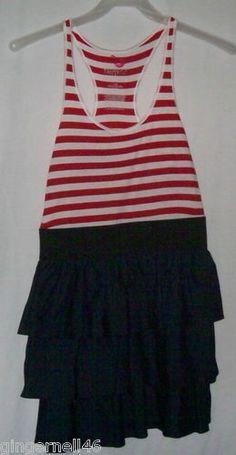 Max Azria Junior Size Dresses Red White Denim Skirt Sizes XS S M Lg Miley Cyrus free shipping $18.00