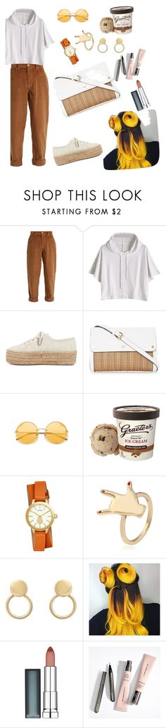 """Untitled #348"" by esii-li ❤ liked on Polyvore featuring Miu Miu, Superga, Tory Burch and Maybelline"